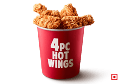 4 PC HOT WINGS