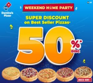 2 Best-selling Pizza Save 50% Off