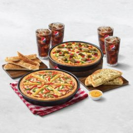 Hut Treat Meals: For 4