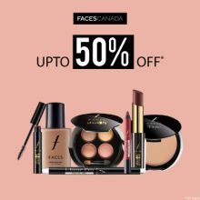 Faces Canada- Welcome The Season With 'upto 50% Off' Discount On Faces Canada Collection