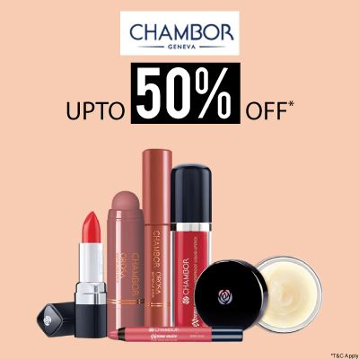 Chambor- Stock Your Hot Favourites From Chambor Collection At A Blowout Offer Of 'upto 50% Off'