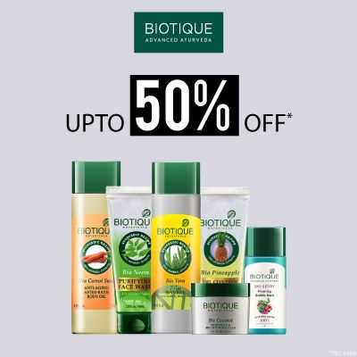 Biotique- Amp Up Your Skincare Routine With An Irreristible Deal Of 'upto 50% Off' On Biotique Essentials