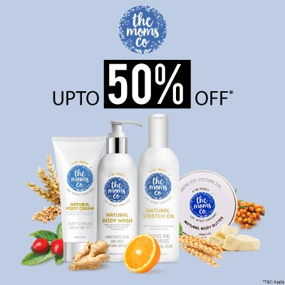 The Moms Co- Pamper Your Skin With The Goodness Of The Moms Co Range Available At 'upto 50% Off' Offer
