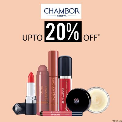 Chambor- Stock Your Hot Favourites From Chambor Collection At A Blowout Offer Of 'upto 20% Off'