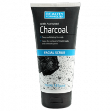 Beauty Formulas Activated Charcoal Facial Scrub 150ml.