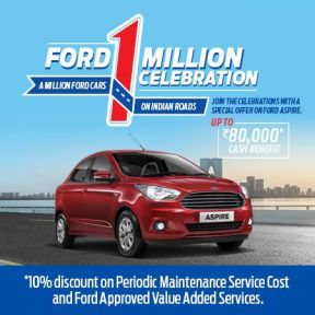 Ford 1 Million Celebration Upto ₹ 80,000 Cash Benefit