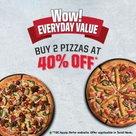 Wow! Everyday Value Buy 2 Pizzas At 40% Off